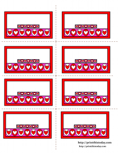 Labels with Hearts border