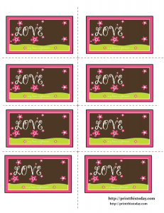 My love is forever Free Printable Labels