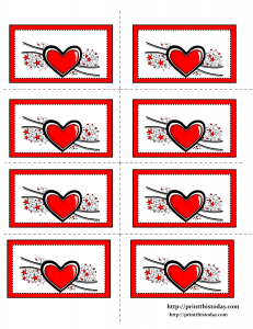 Free Printable Labels featuring Hearts