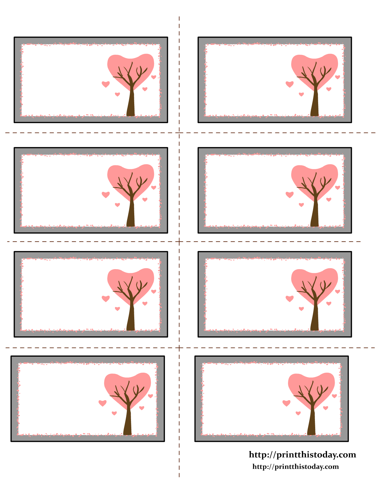 Custom Card Template free label templates : Free Printable Hearts Labels