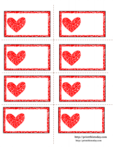 Free Printable Labels with Mosaic Heart