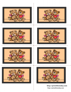 Free Printable Labels featuring Teddy Bears Couple