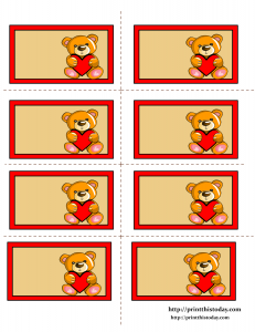 Cute Teddy Bear Printable Labels