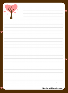 Love letter Pad stationery featuring Love Tree