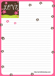 My love is forever Love letter Pad Printable