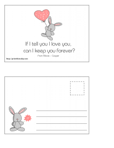 Cute Love Postcard