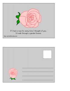 Postcard with Rose