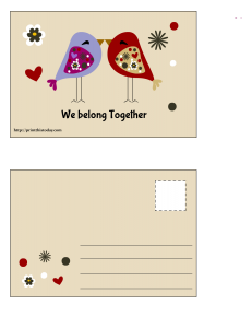 We belong together Postcard