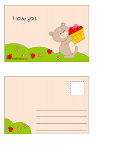 Postcard to say 'I love you'