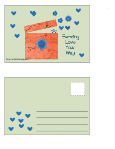 Sending Love your way Postcard