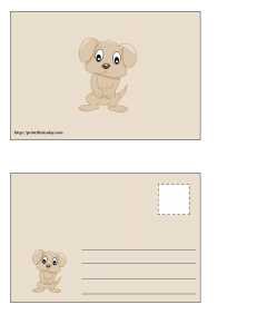 Cute Puppy Postcard