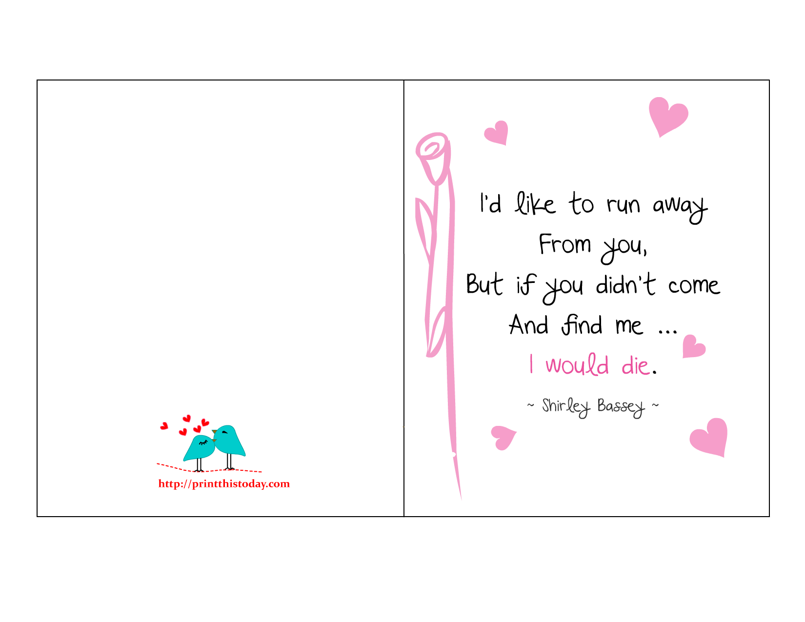 image regarding Free Printable Love Cards identify Take pleasure in Offers Playing cards