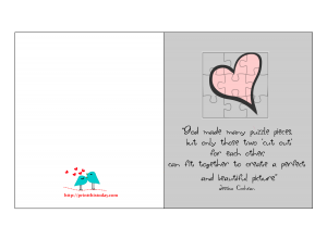 Love Card with meaningful Quote