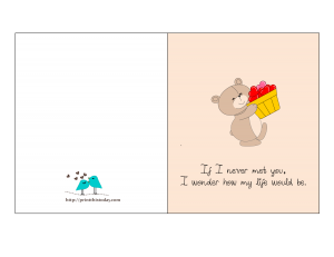 Free Printable Card with Cute Love Quote