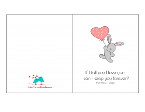 Love card with cute quote