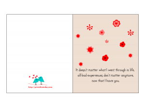 Love card with thankful quote