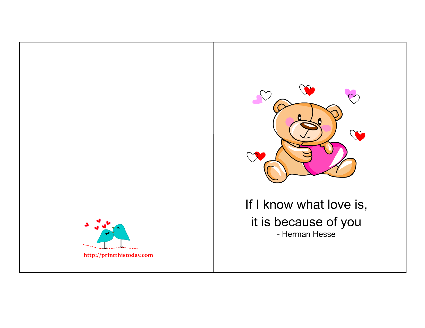 Pics Photos - Valentine Love Card With Cute Romantic Owls And Hearts ...