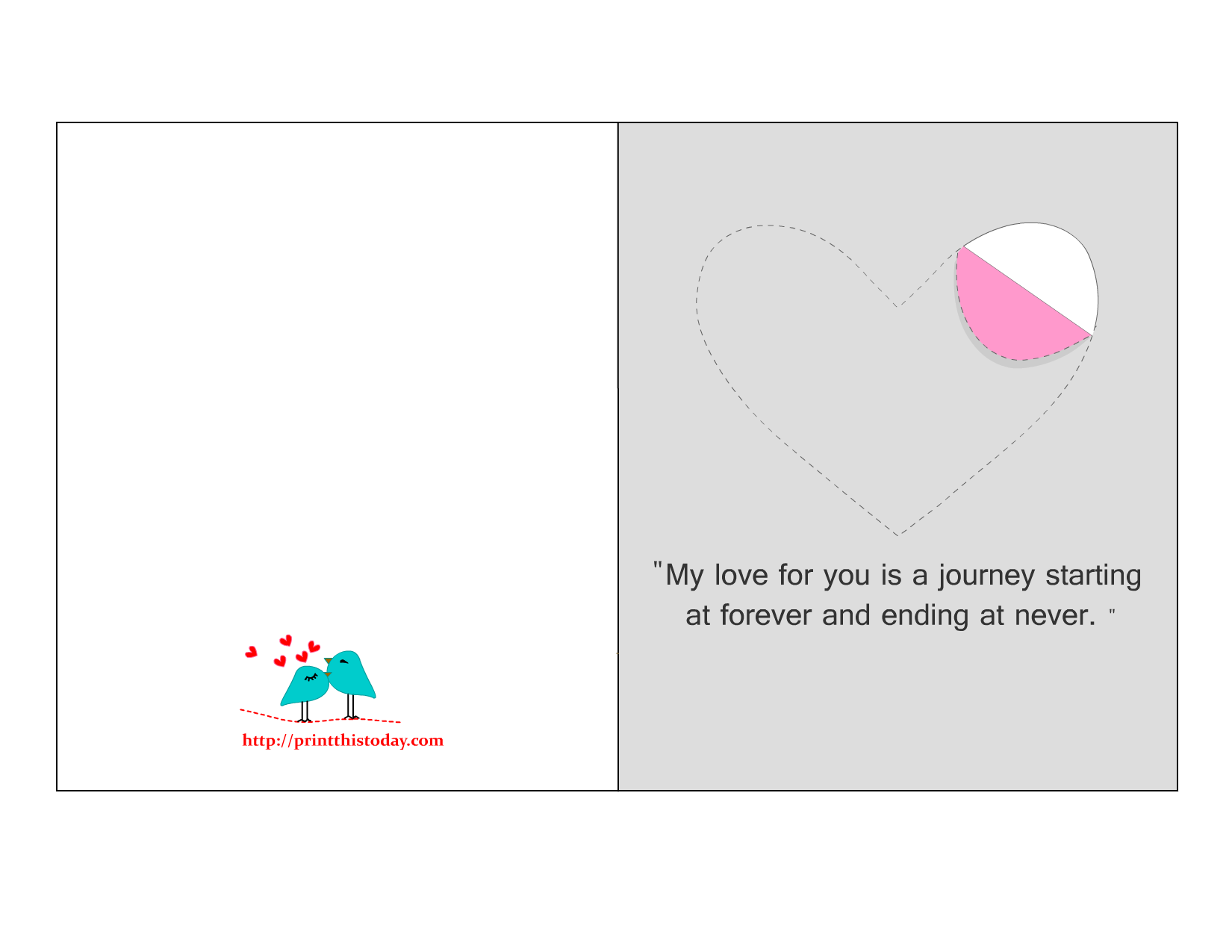 image relating to Printable Love Cards named Printable Delight in Playing cards with Lovely, Intimate and considerate Estimates