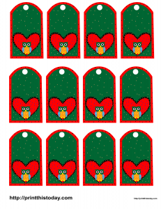 Free printable Owl themed favor tags