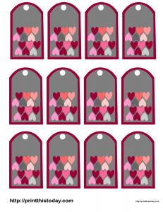 Favor tags with hearts