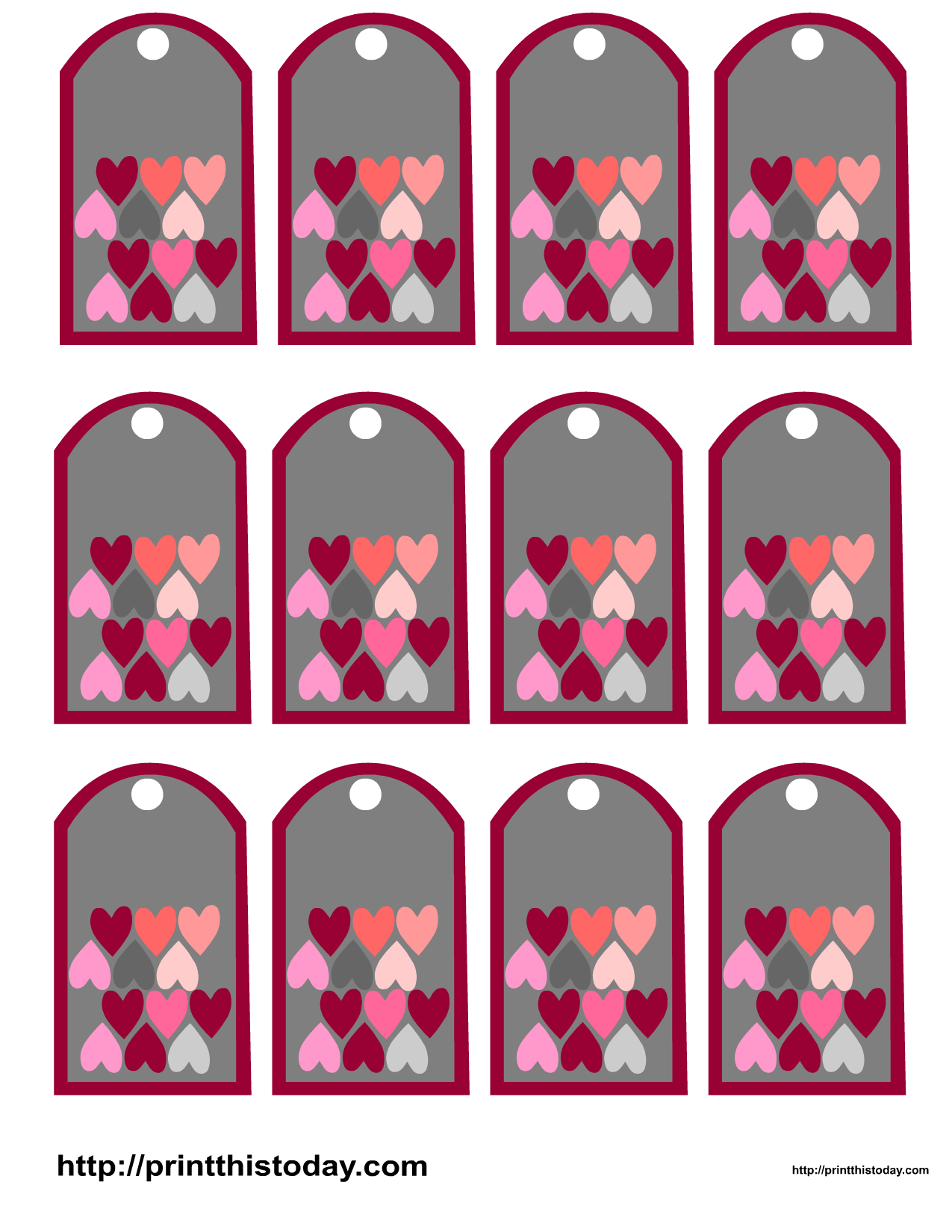 picture relating to Valentine Gift Tags Printable titled Valentine Reward Tags