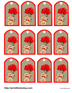 Free printable Valentine Favor tags