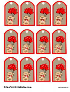 Free printable Valentine Favor tags