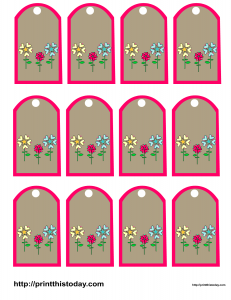 Favor tags with flowers