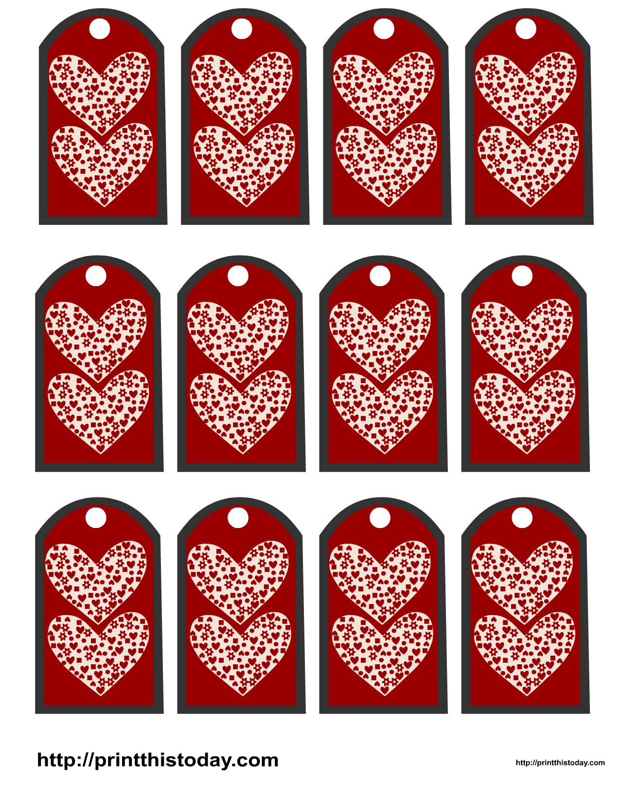 valentine favor tags gift tags. Black Bedroom Furniture Sets. Home Design Ideas