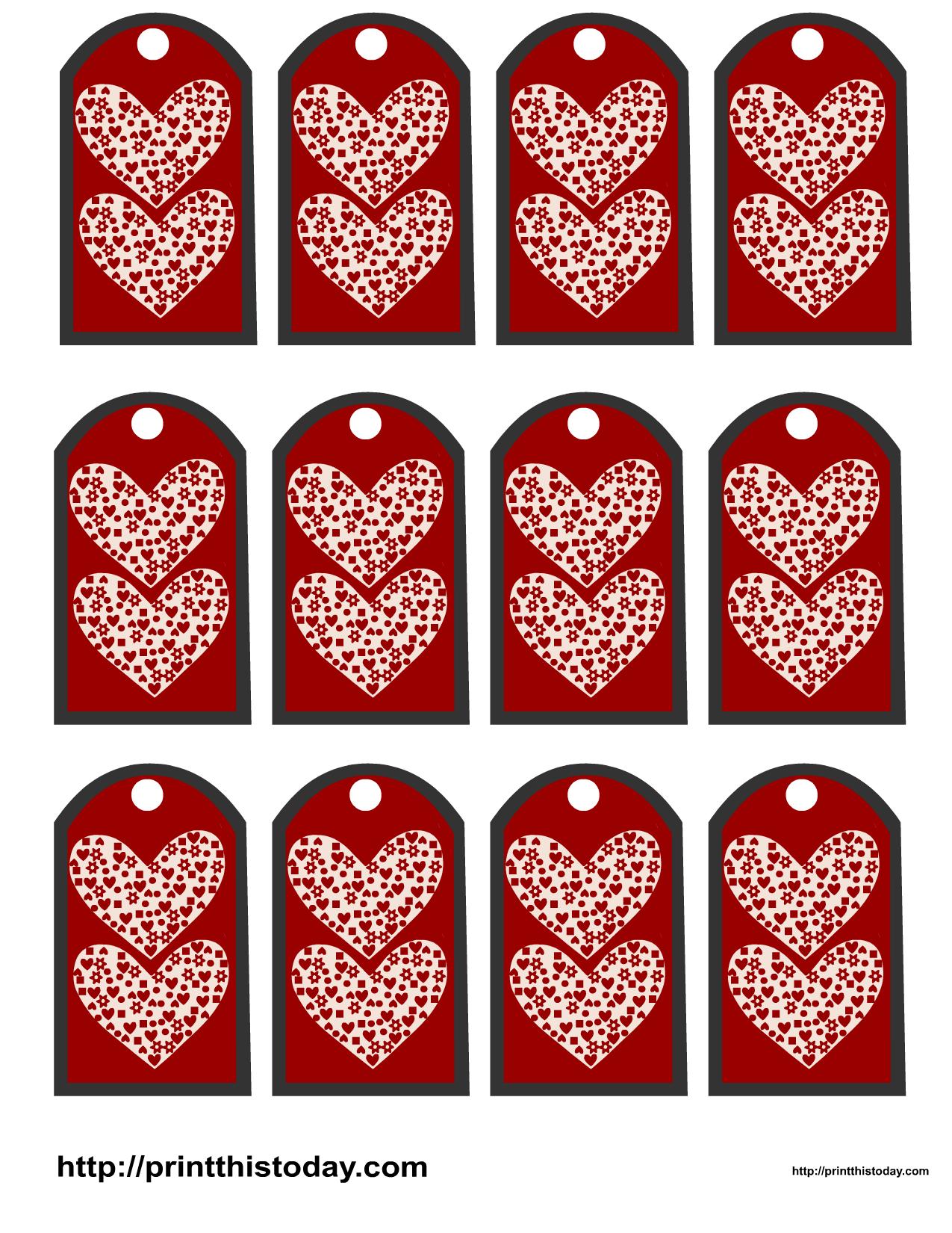 Valentine favor tags gift tags - Decoraciones san valentin ...