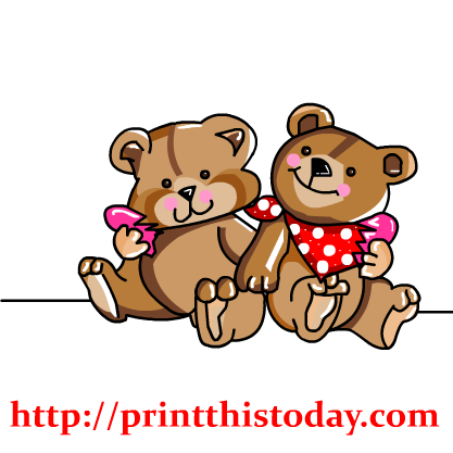Free Love Teddy Bear Clip Art