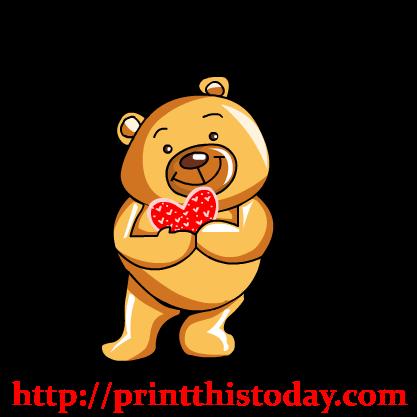 Free Love Teddy Bear Clip Art