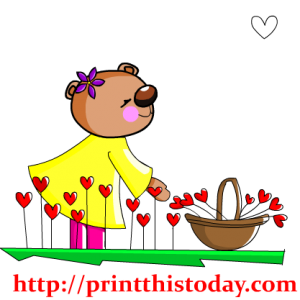 Teddy Bear in Garden Clip Art