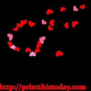 Hearts Dandelion Clip Art