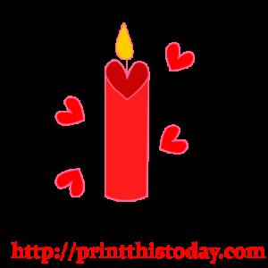 free valentine candle clip art