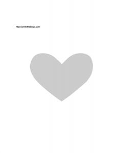 Free printable heart stencil