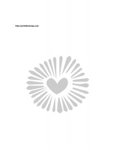 Decorative heart stencil for valentine