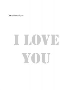 I love you stencil