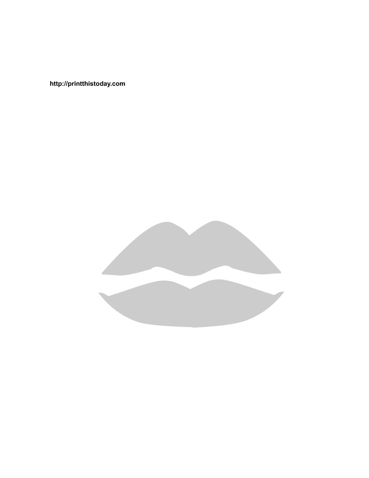 picture about Lip Stencil Printable named Printable Valentine Stencils