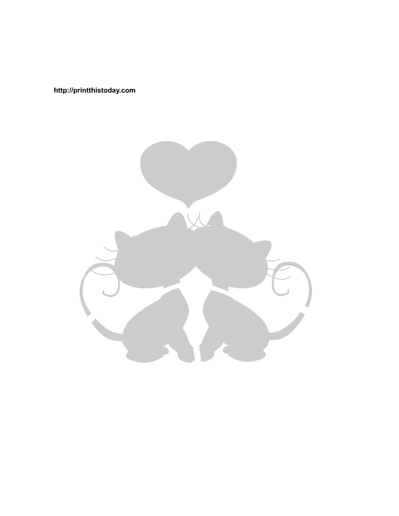 printable valentine stencils