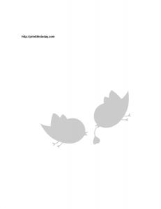 Free printable love birds stencil