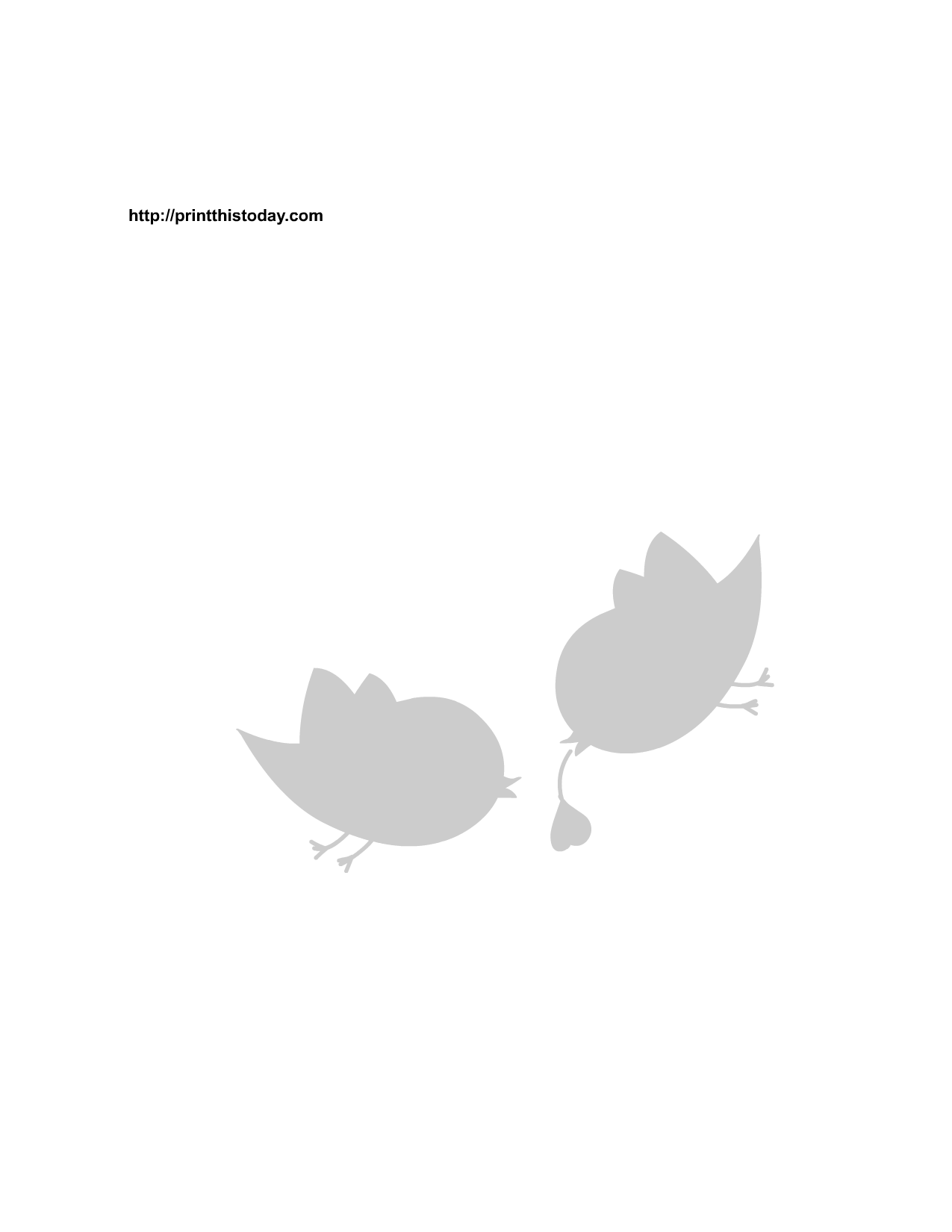 Free Printable Love Birds Stencils