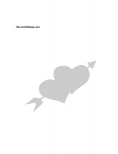 Arrow and hearts stencil