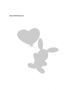 bunny and heart stencil
