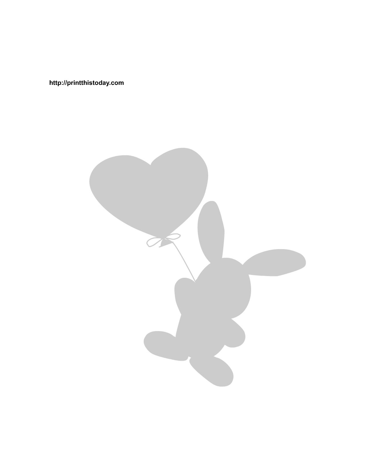free printable bunny stencils