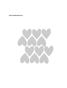 hearts pattern stencil