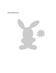 Easter bunny and flower stencil