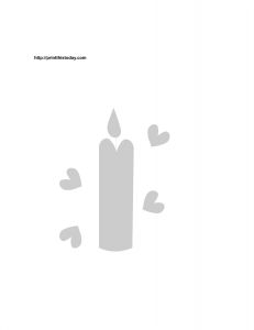 candle and hearts stencil