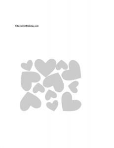 Big and small hearts stencil