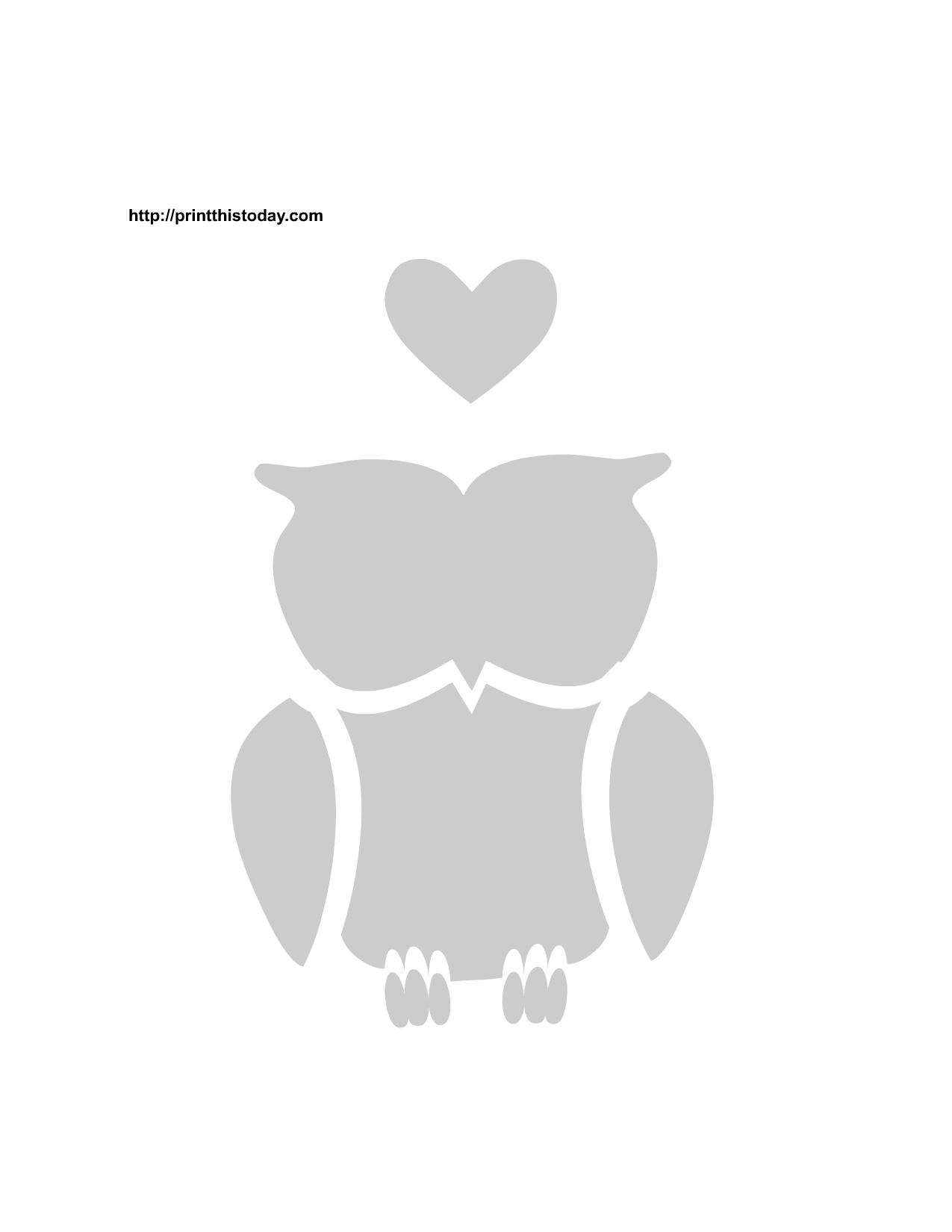 free printable love birds stencils